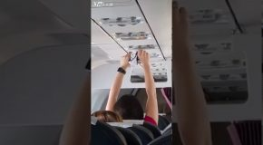 Woman Dries Her Underwear On Airplane?!?
