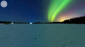 A Stunning 360° 8K Timelapse of the Northern Lights