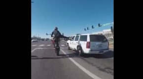 Biker Taunts a Cop Who Has No F**ks Left to Give