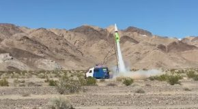 Flat Earther Tries Launching Himself Into Space With A Homemade Rocket