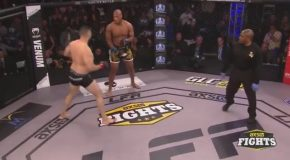 MMA Fighter Does a Flip Off his Knocked Out Opponent and Gets Disqualified