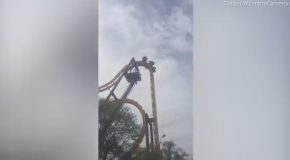 Passengers Stuck Upside-down On Batman Roller-coaster For 45 Minutes