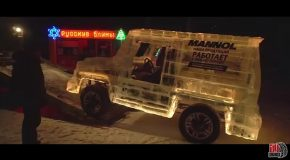 Russian Dude Builds A Mercedes G-Class SUV Out of Ice Blocks!