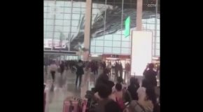 Shocking Footage of Roof Collapse at a Chinese Airport