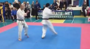 This Karate Match Ends Before It Really Even Begins