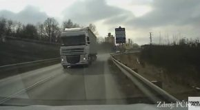 Truck Overtaking Other One
