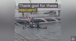 Children Rescued from Sinking Car