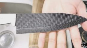 Guy Makes An Extremely Sharp Knife out of Carbon Fiber