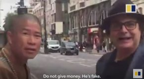 Fake Monk : Hong Kong Buddhist Crusader Catches One on London Street