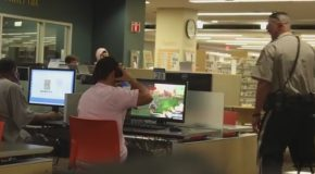 Playing Fortnite in the Library!