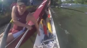 Rowing Team Has a Close Call During Collision