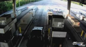 Video Shows Car Slamming Into Florida Toll Booth