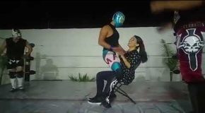 WTF Bachelorette Dropkicked By Wrestling Stripper!