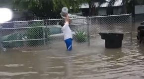 Cleaning Up A Flood With A Bucket!
