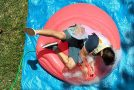 Falling Onto a Giant Water Balloon in Slow Motion