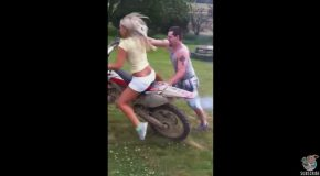 First Time Dirt Bike Rider Fail