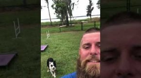 Man and His Dog Have a Near Psychic Bond