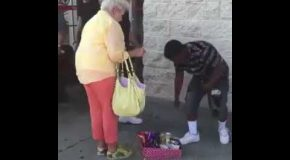 Old Lady Harasses Kid for Selling Candy Without a Business Permit