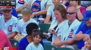 Terrible Grown Man Steals Foul Ball From Little Kid at Cubs Game