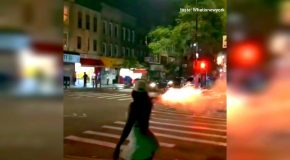 Woman Caught on Cam Launching Fireworks at NY Crowd in Brooklyn