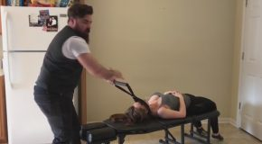 Amazing Full Body Chiropractic Adjustment on Soccer Mom With Powerful Technique