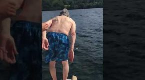Gramps Swimming On His 102nd Birthday