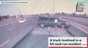 Hit And Run Victim Gets Smashed by Second Oblivious Driver
