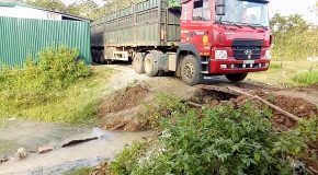 Outcome of Cargo Truck Supported by Two Wooden Boards