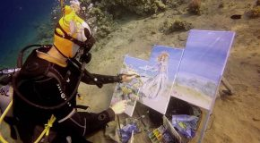 Artist Creates Stunning Underwater Paintings Whilst Diving
