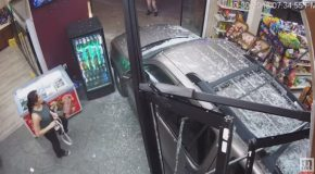 Car Crashes Through Muskegon Heights Liquor Store