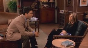 Friends But Instead of a Laugh Track it Just Zooms in On Ross