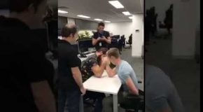Guy Gets His Arm Broken In Arm Wrestle