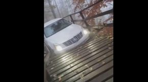 Moron Thought the Bike Trail Was a Road