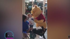Touching Video Shows Winnie The Pooh Comforting Disabled Toddler