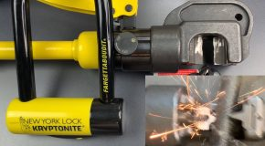Hydraulic Cutter Explodes Trying to Cut Through a Kryptonite Bike Lock