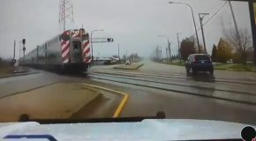 Malfunctioning Train Signal Almost Costs Cop His Life