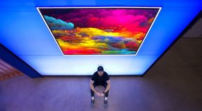 This Mind Bending 77 inch Wallpaper TV