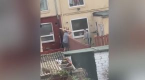 Angry Neighbours Clash in Viral 'Plank Wars' Video
