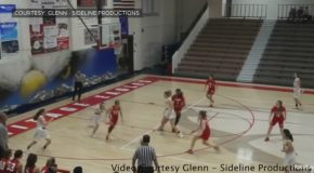 First Ever High School Girl's Basketball Alley-oop