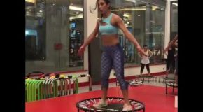 This Trampoline Fitness Class Looks Insane!
