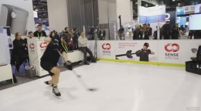 This VR Ice Hockey Setup Felt Almost Like the Real Thing