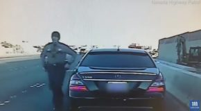Officer Narrowly Avoids Death After Drunk Driver Smashes Into His Car!