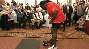 When Mark Henry Successfully Lifted The Infamous 172-pound Thomas Inch Dumbbell