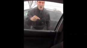Guy Has Road Rage Incident And Punches Out Window Of Young Driver