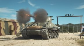 WWII Tanks Firing in Slow Motion