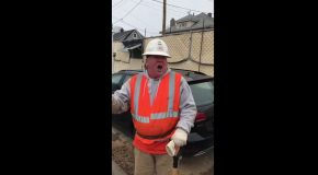 A Construction Worker Does an Impressive Impersonation of Trump