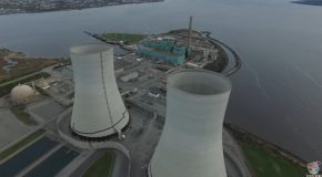 Drone Footage Captured of Cooling Towers Imploding
