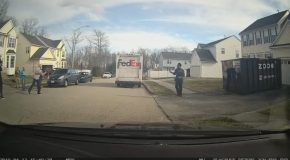 FedEx Guy Stops to Make Shot