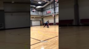 Policeman Destroys Guy In Basketball 1to1