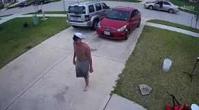 Disoriented Man Walks Onto Stranger's Property